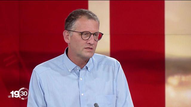 Laurent Kaiser, chef Service maladies infectieuses HUG, réagit aux protocoles de la rentrée scolaire. [RTS]