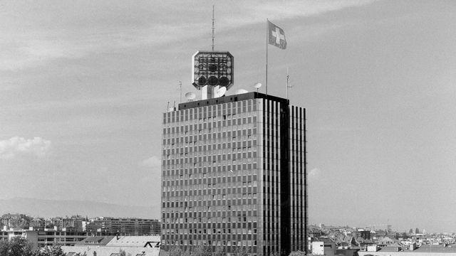 La tour de la télévision de Genève en 1980. [RTS]