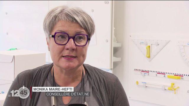 Monika Maire-Hefti évoque la rentrée scolaire à Neuchâtel [RTS]