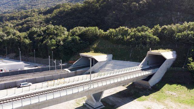 Le tunnel du Ceneri, au Tessin, sera inauguré vendredi. [Gaetan Bally - Keystone]