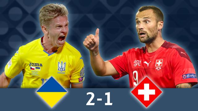 Groupe A, Ukraine - Suisse (2-1): l'équipe de Suisse s'incline à Lviv