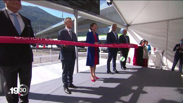 Inauguration du tunnel de base du Ceneri, dernier maillon de la NLFA, nouvelle ligne ferroviaire alpine [RTS]