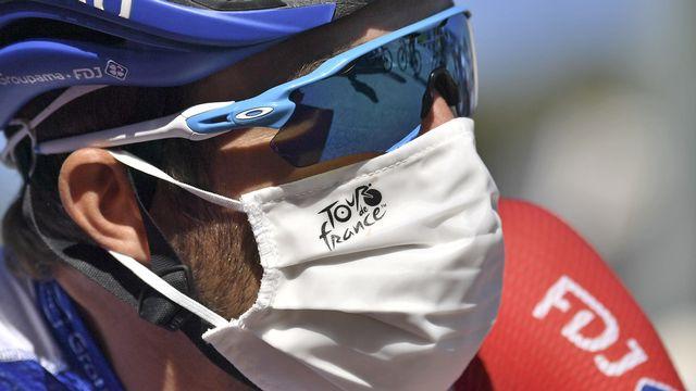 Le Français Thibaut Pinot sur le Tour de France 2020. [Marco Betorello - AP Photo/Keystone]