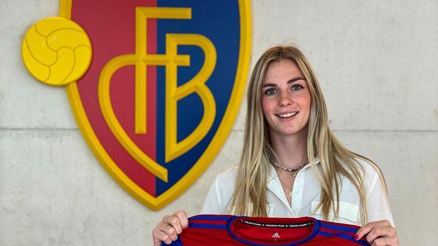 Camille Surdez compte bien briller sous les couleurs du FC Bâle. [Compte Twitter @CamilleSurdez - SRI]