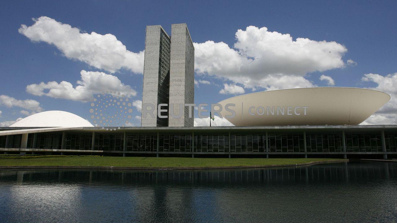 Le palais du Congrès national brésilien à Brasilia. [Jamil Bittar - Reuters]