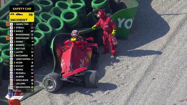 GP d'Italie (#8): Charles Leclerc part dans le décor, course interrompue [RTS]