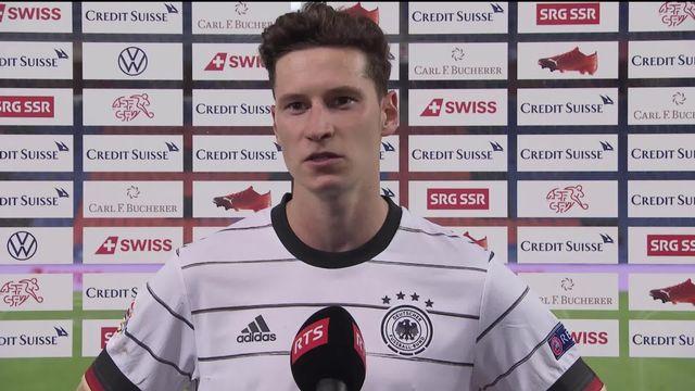 Gr.4, Suisse - Allemagne (1-1): la réaction de Julian Draxler après la rencontre [RTS]