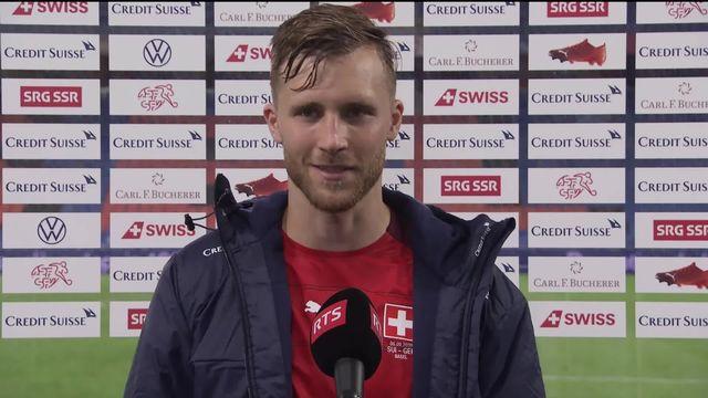 Gr.4, Suisse - Allemagne (1-1): Widmer satisfait après son but et le résultat positif [RTS]