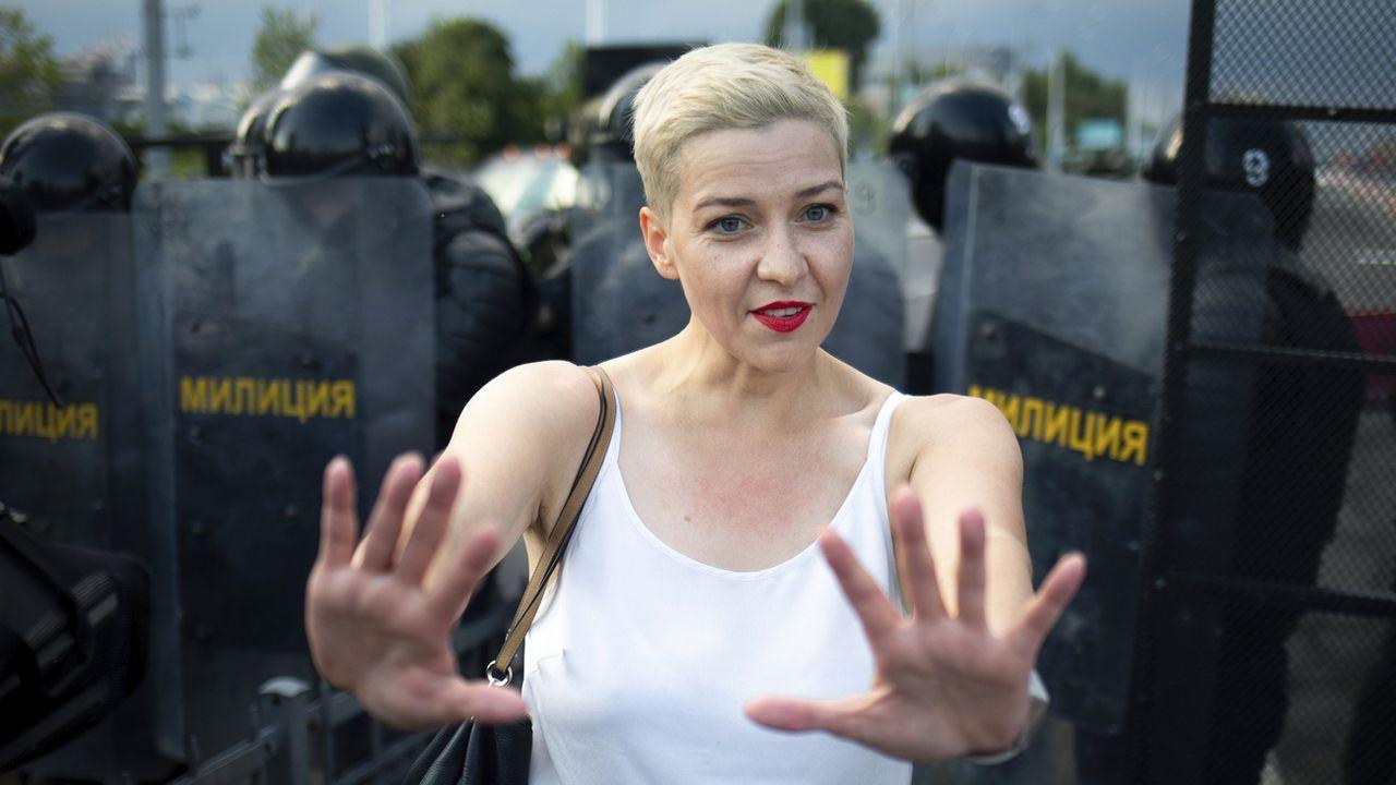 Arrestation présumée de l'opposante Maria Kolesnikova en Biélorussie. [Tut.By - AP/ Keystone]