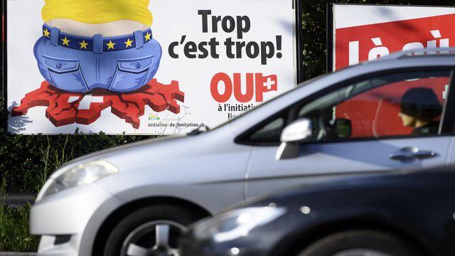 """Les Suisses voteront le 27 septembre sur l'initiative UDC """"pour une immigration modérée"""" [Laurent Gillieron - Keystone]"""