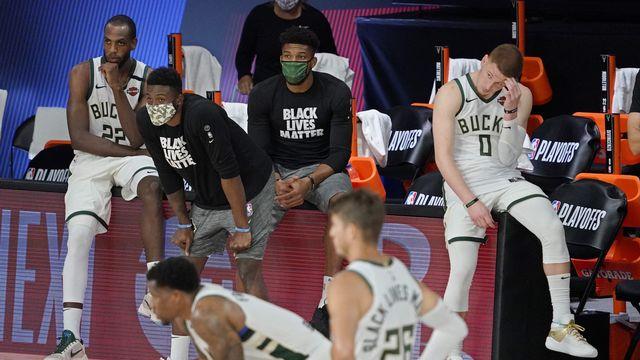 Meilleure équipe de la saison régulière, Milwaukee n'a rien pu faire face à Miami. [Mark J. Terrill - Keystone]