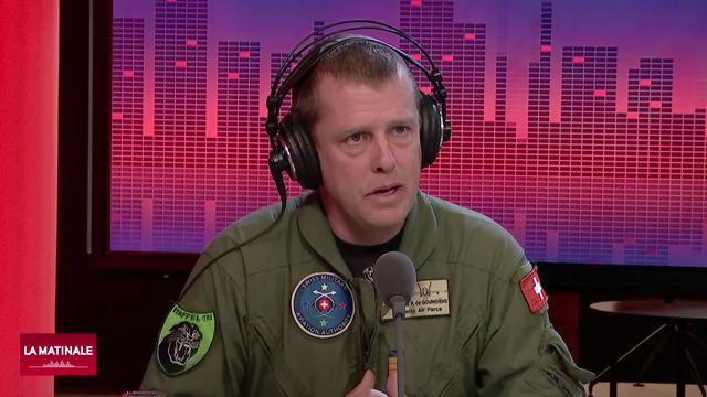 L'invité de La Matinale (vidéo) - Pierre de Goumoëns, chef de l'Autorité de l'aviation militaire [RTS]