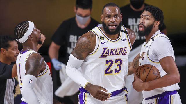 LeBron James et les Lakers affronteront les Clippers ou les Nuggets au prochain tour. [Erik S. Lesser - Keystone]