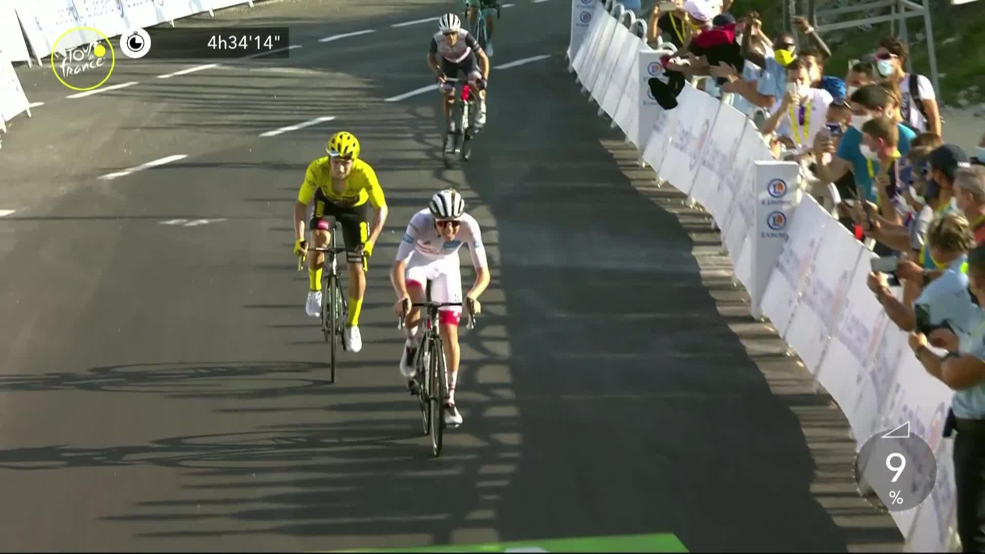 Les leaders grimpent le Col du Grand Colombier, Bernal et Quintana lâchés par l'accélération de Van Aert (direct) — Tour de France