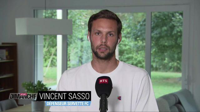 Football: Interview de Vincent Sasso, défenseur du Servette FC [RTS]