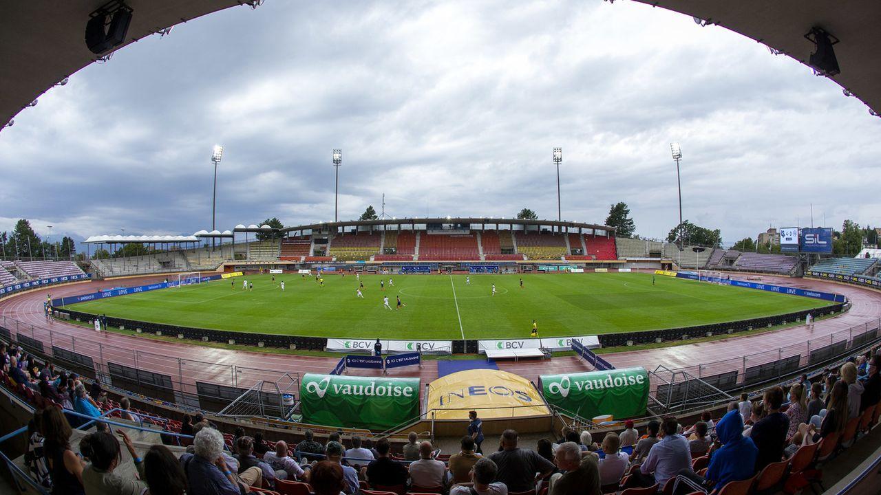 Le vénérable stade de la Pontaise le 2 août lors de la rencontre entre Lausanne-Sport et Wil. [Salvatore Di Nolfi - Keystone]