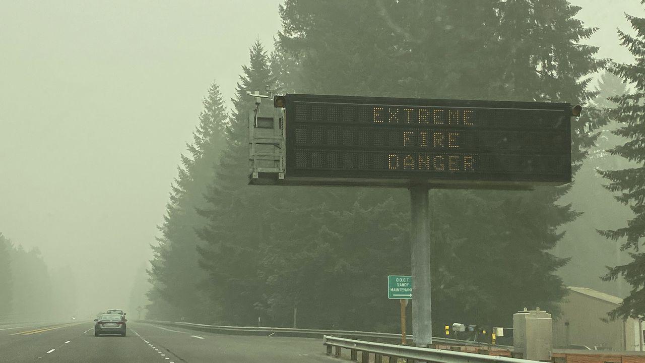 Les particules fines des incendies de l'Oregon sont arrivées jusqu'en Suisse. [Rachel La Corte - AP]