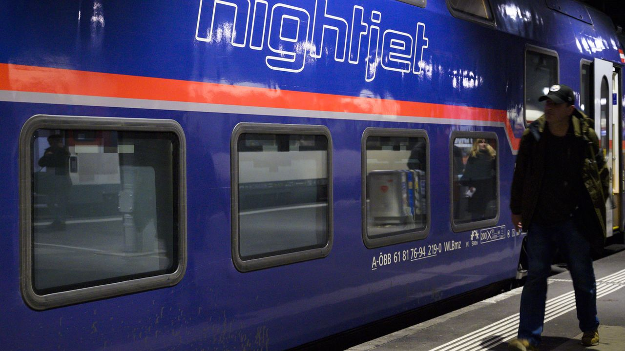 Les CFF et les chemins de fer autrichiens augmentent l'offre des trains de nuit. [Leandre Duggan - KEYSTONE]