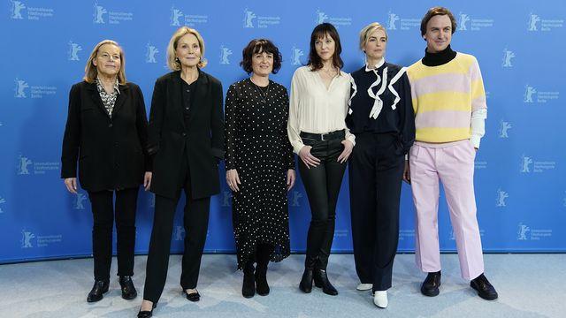 """L'équipe du film """"Petite soeur"""" lors de la dernière Berlinale. [Ronald Wittek - Keystone]"""
