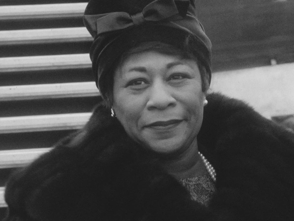 Ella Fitzgerald en 1962 à Cointrin. [RTS]