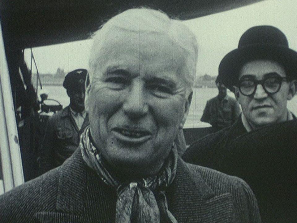 Charlie Chaplin à Cointrin en 1952. [RTS]