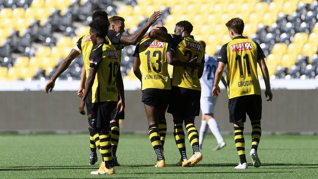 Young Boys pourra-t-il célébrer des buts et des victoires sur la scène européenne? [Anthony Anex - Keystone]