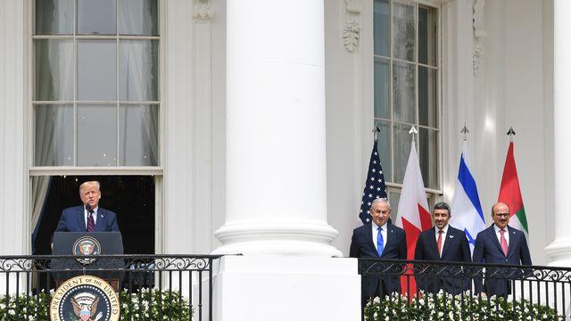 La cérémonie a été chapeautée en grande pompe par Donald Trump. [Saul Loeb - AFP]