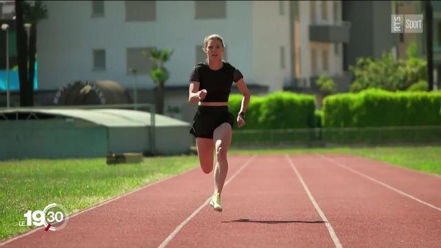 Portrait de la sprinteuse Ajla Del Ponte [RTS]