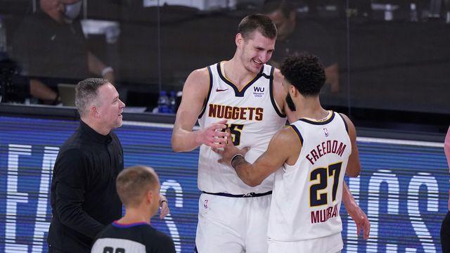 Jokic et Murray ont mené les Nuggets en finale de Conférence. [Mark J. Terrill - Keystone]
