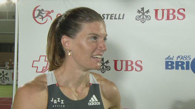 16.09 Athlétisme: Lea Sprunger à l'interview après sa 2e place sur 400m haie [RTS]