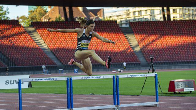 L'athlète suisse Léa Sprunger, en juillet 2020. [Patrick B. Kraemer - Keystone]