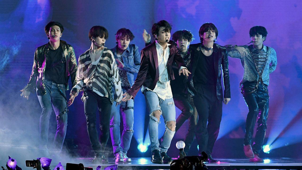 Le groupe de K-Pop BTS. [Ethan Miller - AFP]