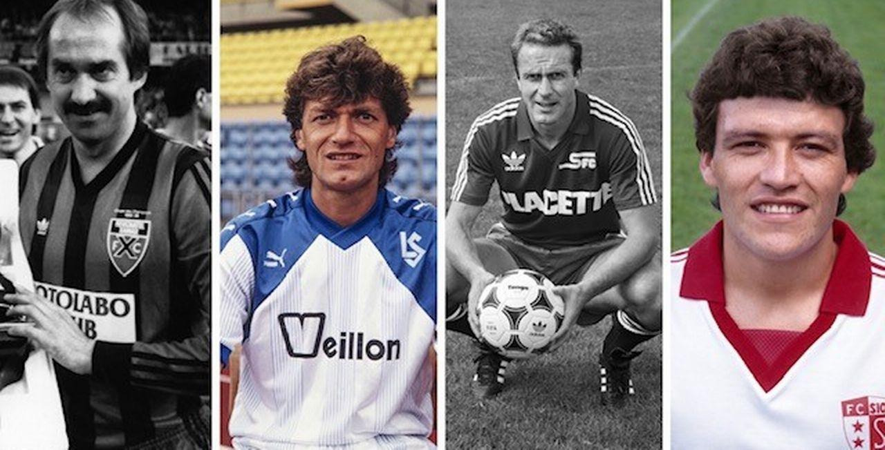 Uli Stielike, Giancarlo Antognoni, Karl-Heinz Rummenigge et Nestor Clausen ont rejoint le championnat suisse dans les années 80. [Keystone]