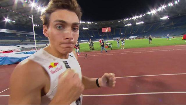 Rome (ITA), saut à la perche messieurs: record du monde pour Duplantis (SUE) ! [RTS]