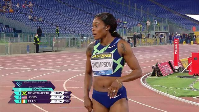 Rome (ITA), 100m dames: del Ponte (SUI) termine 4e [RTS]