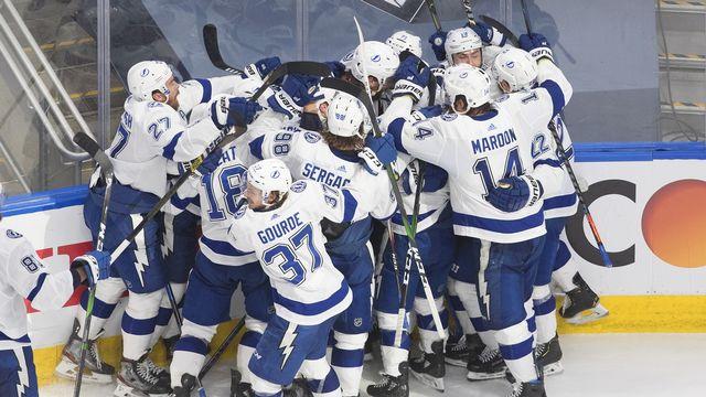 Le Lightning de Tampa Bay retrouve la finale de la Coupe Stanley, 5 ans après sa dernière apparition en 2015. [Jason Franson/The Canadian Press via AP - Keystone]