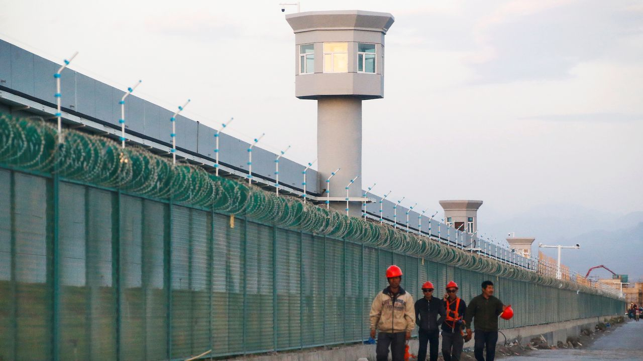 Le centre d'internement de Dabancheng près d'Urumqi, la capitale du Xinjiang.   [Thomas Peter - Reuters]