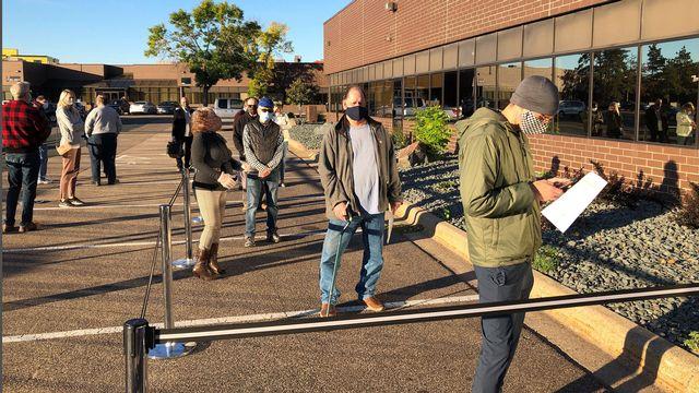Donald Trump et Joe Biden, duel à distance dans le Minnesota [Steve Karnowski - Keystone/AP]