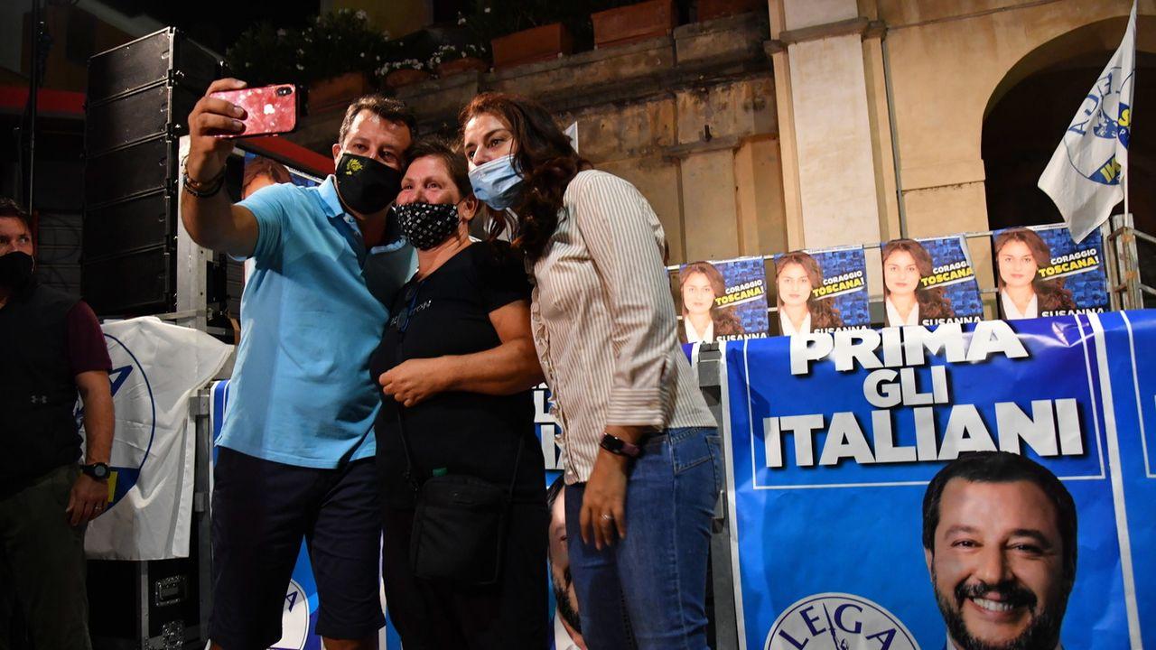 Elections régionales partielles en Italie: la Toscane pourrait basculer à droite pour la Ligue de Matteo Salvini. [Alessandro di Meo - EPA/Keystone]