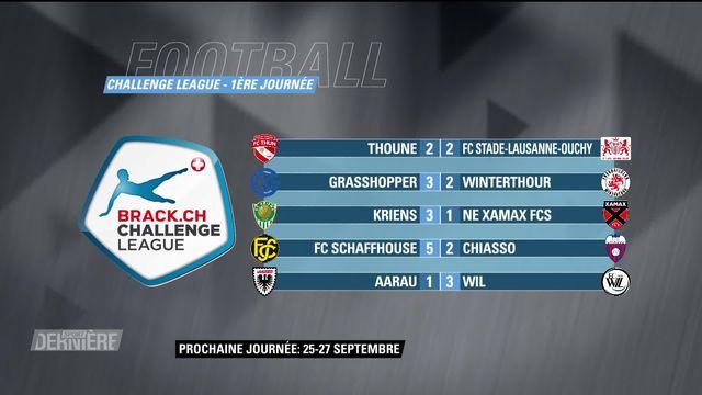 Football, Challenge League, 1ère journée: résultats [RTS]