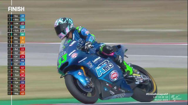 Moto2, GP d'Emilie-Romagne (ITA): victoire de Bastiainini (ITA), Luhti termine 9e [RTS]