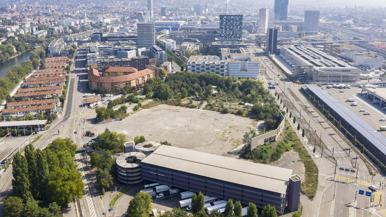 Le site de la Brache, à Zurich, qui abritait l'ancien stade du Hardturm, photographié le 20 septembre 2020. [Ennio Leanza - Keystone]