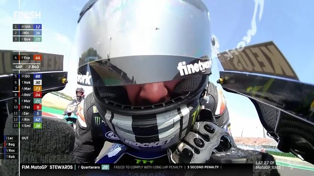 MotoGP, GP d'Emilie-Romagne (ITA): Vinales (ESP) s'impose devant Mir (ESP) 2e et Espargaro (ESP) 3e [RTS]