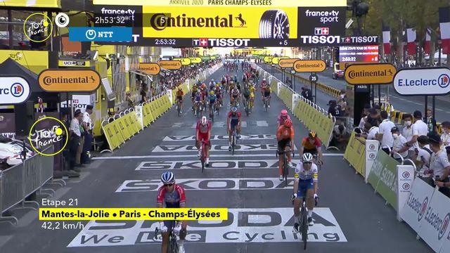 21e étape, Mantes-la-Jolie - Paris: victoire de Bennett (IRL) sur la dernière étape [RTS]