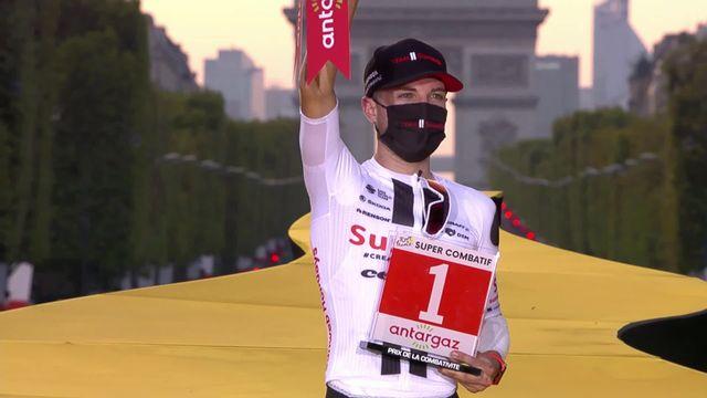 21e étape, Mantes-la-Jolie - Paris: maillot du plus combatif pour Hirschi (SUI) [RTS]