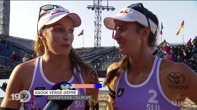 Beachvolley: les Suissesses Joana Heidrich et Anouk Vergé-Dépré sont championnes d'Europe. 1er titre pour la Suisse depuis 2004. [RTS]