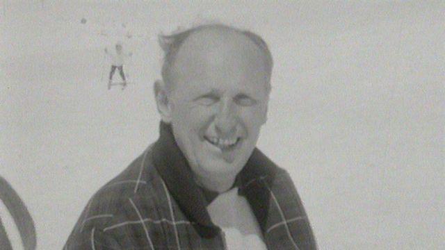 Le comédien français Bourvil à Crans-Montana en 1964. [RTS]