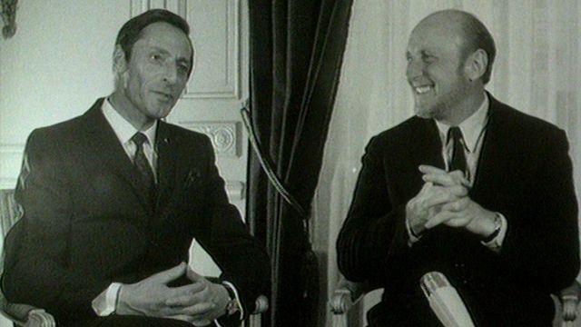 Bourvil et Ferdi Kübler en 1968. [RTS]