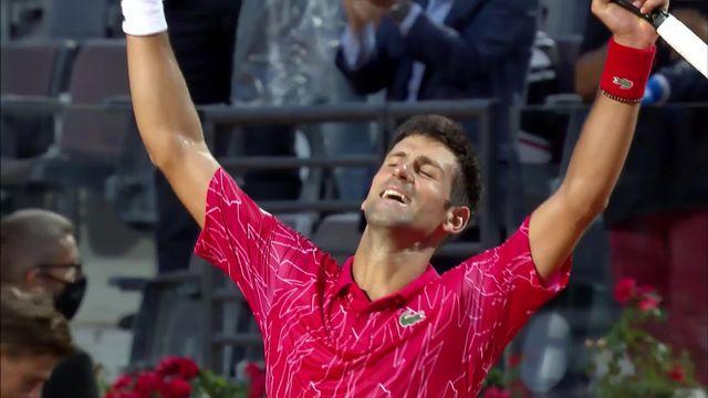Finale, N.Djokovic (SRB) - D.Schwartzman (ARG) (7-5, 6-3): Djoko s'impose et remporte son 5e titre à Rome [RTS]