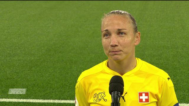 Suisse - Belgique (2-1): l'interview de Gaëlle Thalmann après la victoire suisse [RTS]